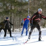 Энтузиасты лыжного спорта прошли маршрут из Горно-Алтайска в Манжерок