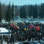 В Горно-Алтайске прошел митинг солидарности с народом Украины