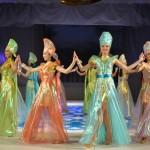 Дефиле в алтайских костюмах