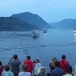 На Телецком озере прошел парад кораблей (фото)