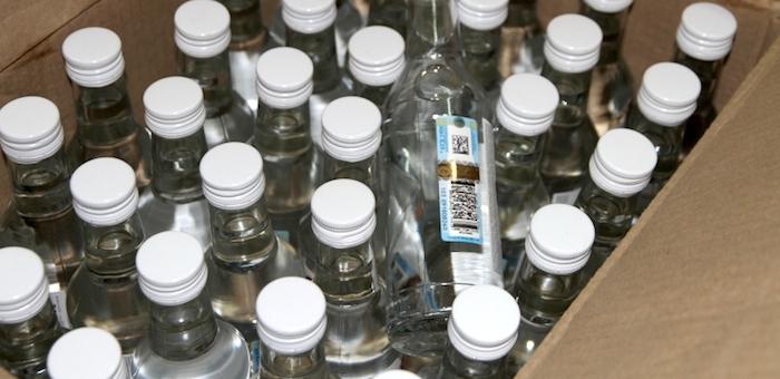 В Улагане изъяли 1,3 тыс. бутылок нелегального алкоголя