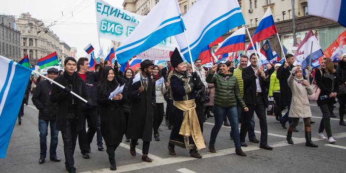 Землячество Республики Алтай приняло участие в митинге «Мы едины» в Москве (фото)