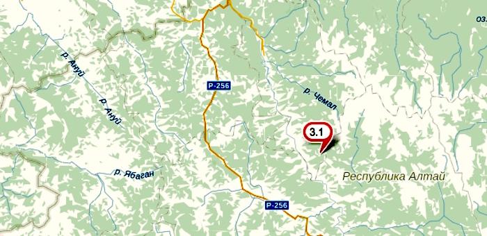 Первое в этом году землетрясение произошло в Горном Алтае