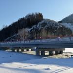 Открыт новый мост через реку Коргон