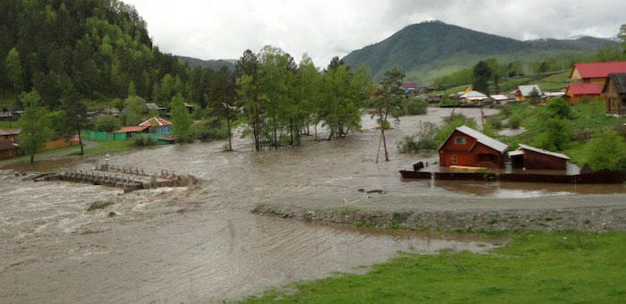 Уровень воды в реках растет