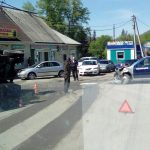 Фотофакт: В Элекмонаре произошло ДТП с участием полицейской машины