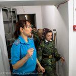 Кадеты побывали в бомбоубежище (фото)