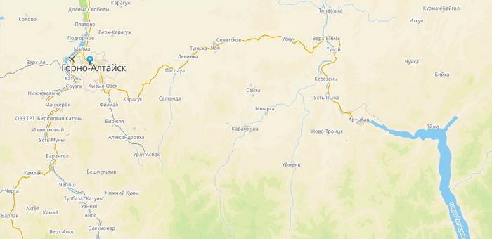 В 2ГИС добавили карту Телецкого озера