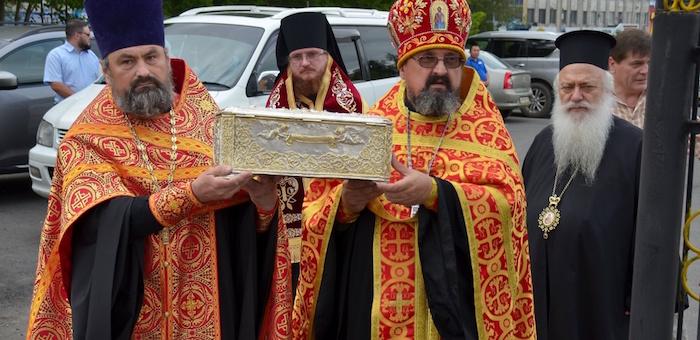 На Алтай из Греции привезли мощи Димитрия Солунского