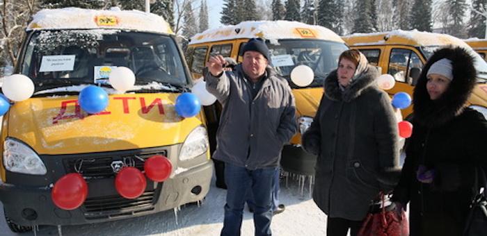 В районы переданы «Газели» для перевозки школьников