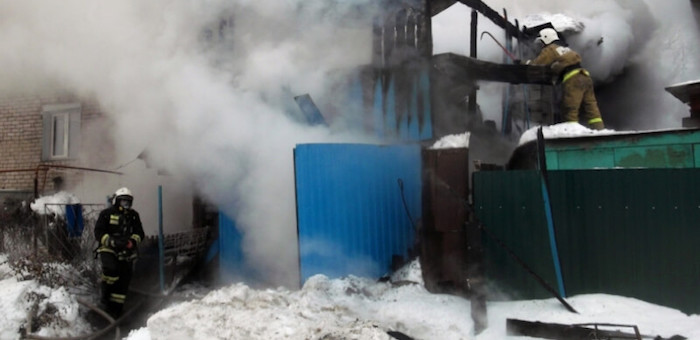 Из-за гусей в Горно-Алтайске чуть не сгорел дом (фото)