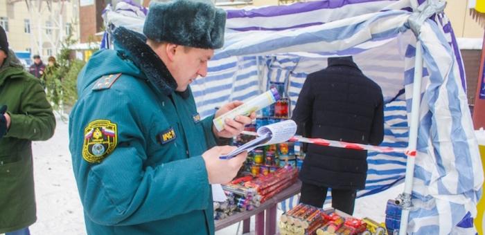 В Горно-Алтайске пресечена продажа некачественной пиротехнической продукции