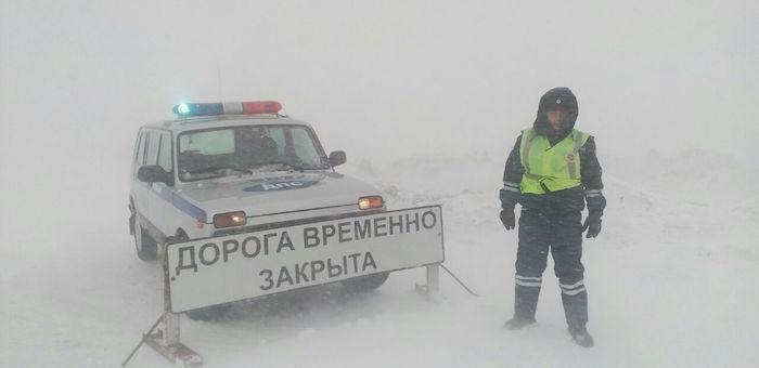 Трассу на Барнаул закрыли из-за метели