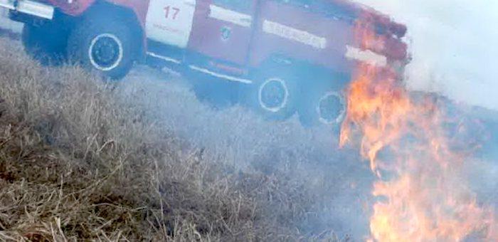 Первый в этом году природный пожар потушили в Горном Алтае