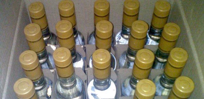 Полицейские изъяли 620 бутылок контрафактной водки