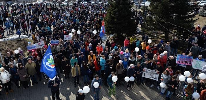 Сотни людей пришли на митинг «Вместе против террора» (фото)