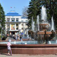 В Горно-Алтайске впервые после нынешней зимы запустили фонтан (фото)