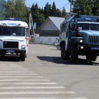 Полицейские провели учения по пресечению массовых беспорядков