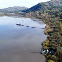 На Манжерокском озере идут работы по очистке и реабилитации водоема