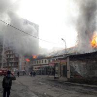 Крупный пожар в центре Горно-Алтайска (фото)
