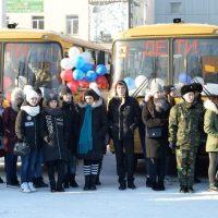 14 школ получили новые автобусы