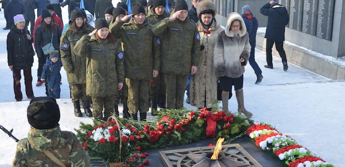 В Парке Победы прошел митинг, посвященный годовщине освобождения Сталинграда