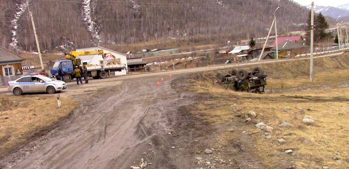 Житель Черги опрокинул грузовик в кювет и сбежал с места ДТП