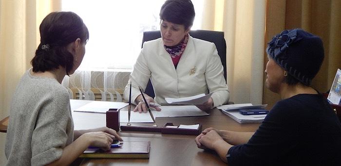 Глава городской администрации провела прием граждан