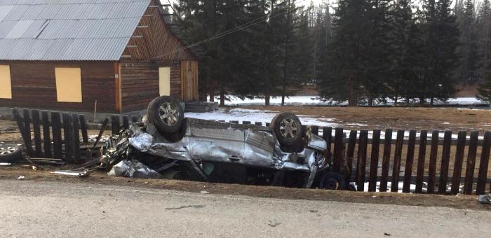 В Чибиле нетрезвый водитель опрокинул автомобиль, два человека получили травмы