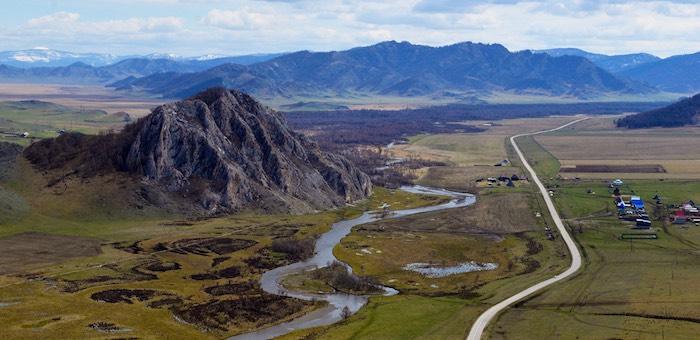 Горный Алтай с высоты птичьего полета. Фотозарисовка