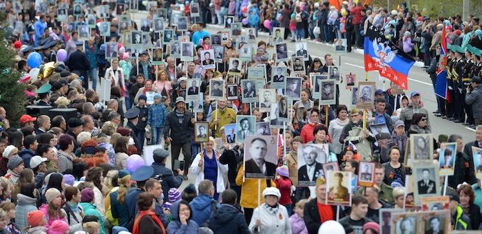 Более 10 тысяч человек приняли участие в акции «Бессмертный полк» в Республике Алтай
