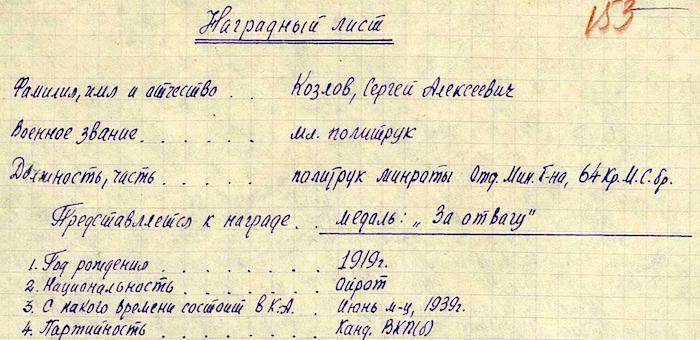 Политрук Козлов у деревни Кузнечиха вызволил окруженных разведчиков