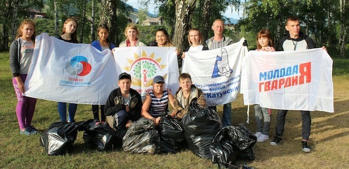Молодогвардейцы в рамках партпроекта провели экологические мероприятия