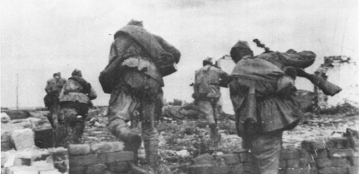 Комсомолец Тебякин отличился в своем первом же бою