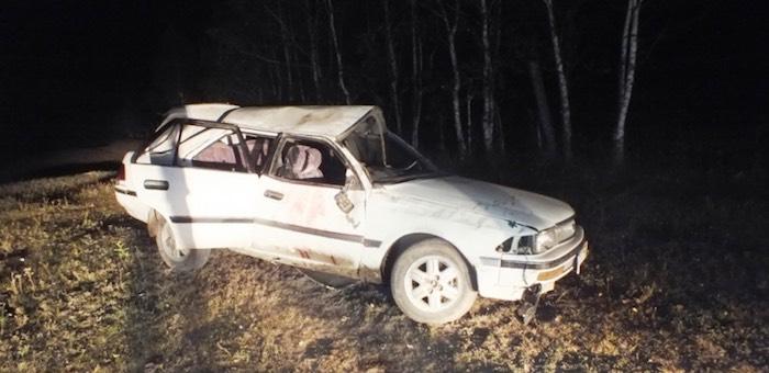 16-летний парень ночью опрокинулся на автомобиле и погиб