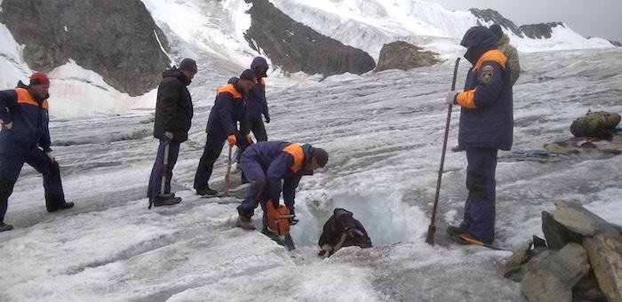 На Актру обнаружено тело альпиниста, пропавшего несколько лет назад