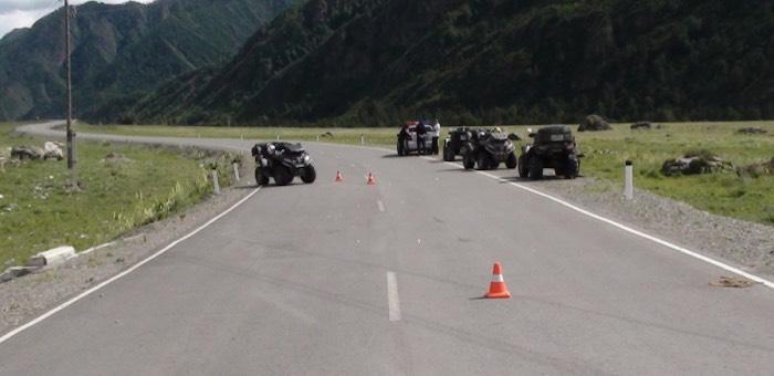 Туристы на квадроцикле потерпели крушение, столкнувшись с овцой