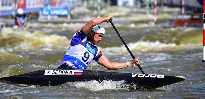 Кирилл Сеткин стал вторым на чемпионате России по гребному слалому