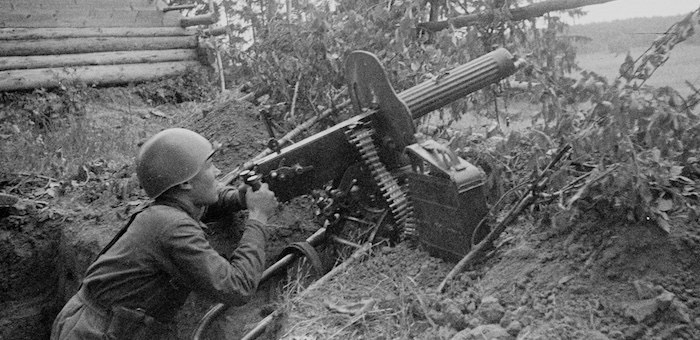 Пулеметчик Кудачин уничтожил более 40 фрицев