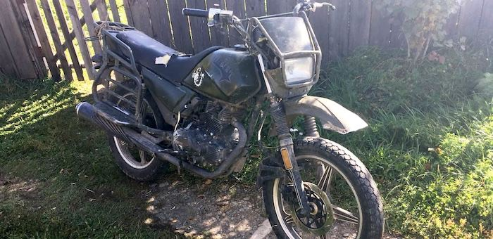 Подросток попал в больницу после неудачной поездки на мотоцикле
