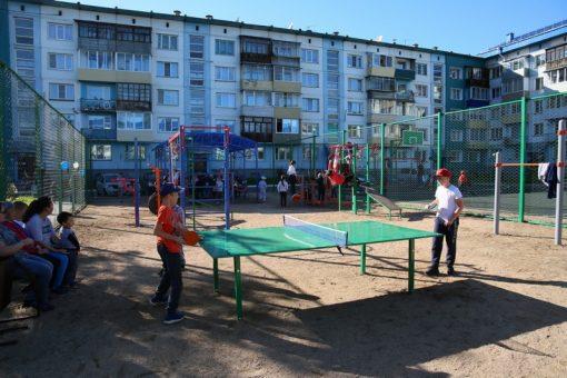 Две благоустроенные дворовые территории открыли в Горно-Алтайске