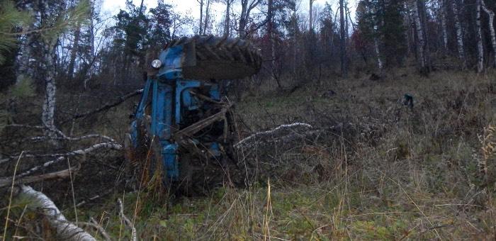 Тракторист погиб, занимаясь заготовкой древесины