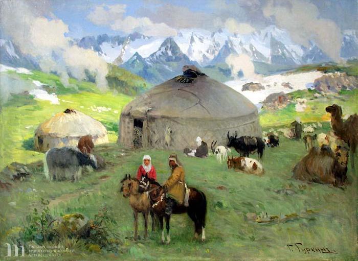 Картина Гуркина представлена в экспозиции выставки «Сокровища музеев России»