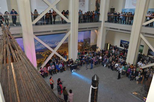 Современная копия пазырыкского войлочного ковра будет храниться в Национальном музее