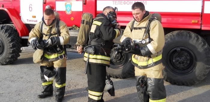 В конкурсе пожарных лидируют представители Турочака