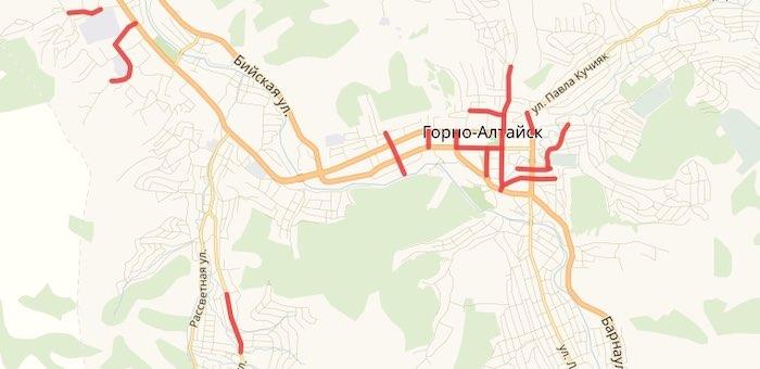 14 улиц отремонтируют в Горно-Алтайске в следующем году (карта-схема)