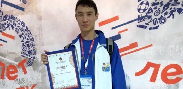 Студент ГАГУ принял участие во Всероссийском фестивале ГТО