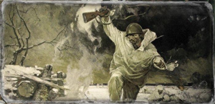 Поднял свое отделение в атаку и первым ворвался в немецкие траншеи