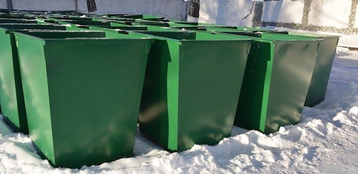 В колонии изготовят 448 контейнеров для мусора