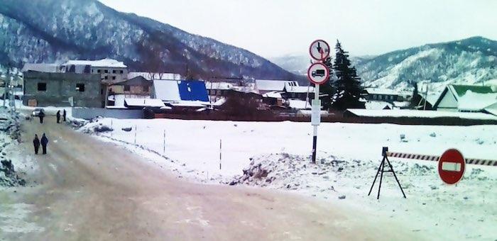 В Онгудае открыта ледовая переправа